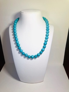 Beads with matt faceted turquoise Gianna
