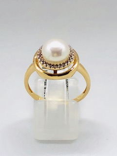 Rose gold pearl ring Steffi