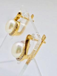 Rose gold pearl earrings Antonella