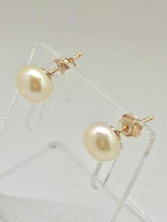 Rose gold pearl earrings Rolanda