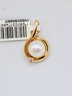 Rose gold pearl pendant Ada