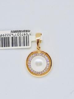 Rose gold pearl pendant Delana
