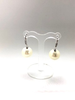 Silver earringswith white pearls Venice