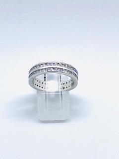 Silver ring with cubic zirconia Italian style Julia