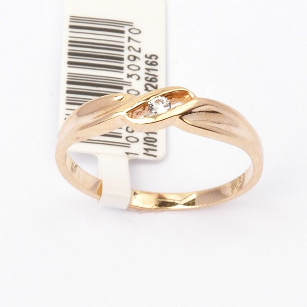 Gold ring with cubic zirconia Alura