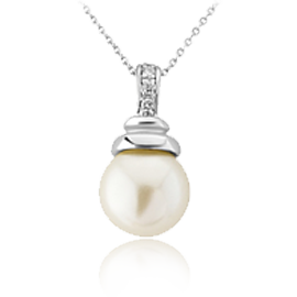 Silver items with pearls